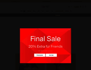 espritshop.ch screenshot