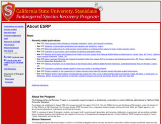 esrp.csustan.edu screenshot