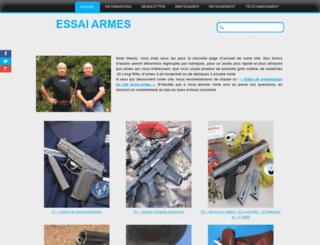 essai-armes.fr screenshot