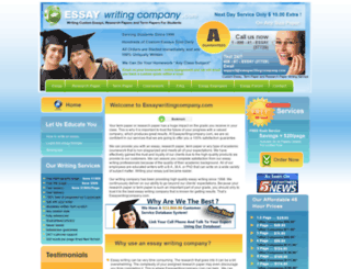 essaywritingcompany.com screenshot