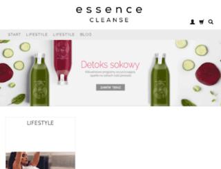 essencecleanse.com screenshot