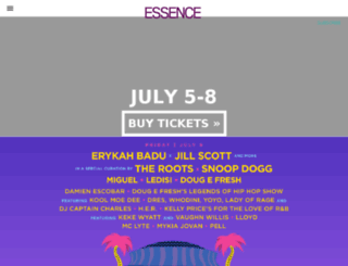 essencemusicfestival.com screenshot