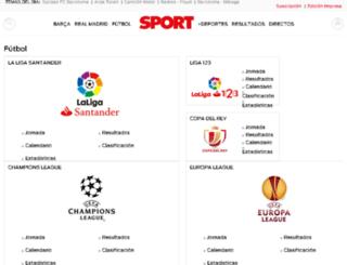 estadisticas.sport.es screenshot