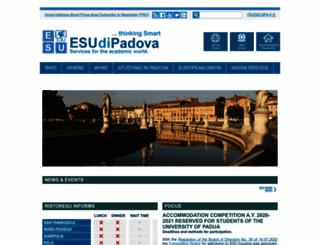 esu.pd.it screenshot