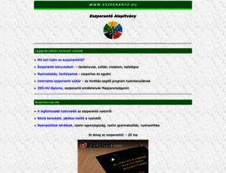eszperanto.hu screenshot