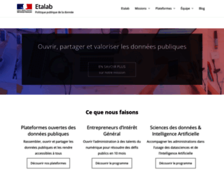 etalab.gouv.fr screenshot