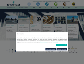 etanco.be screenshot