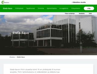 etela-savo.elakeliitto.fi screenshot