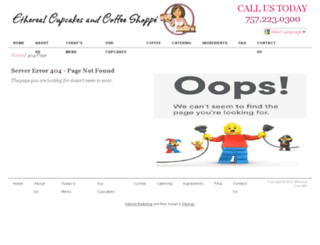 etherealcupcakesandcoffeeshoppe.com screenshot
