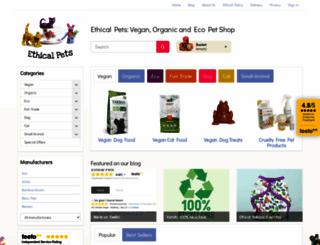 ethical-pets.co.uk screenshot
