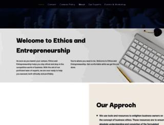 ethicsandentrepreneurship.org screenshot