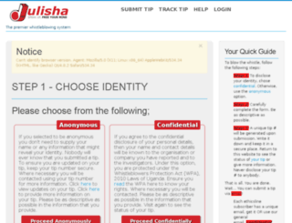 ethicsline.org screenshot