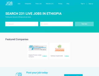 ethio.mysmartjobboard.com screenshot