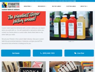 etiquettesystems.com screenshot