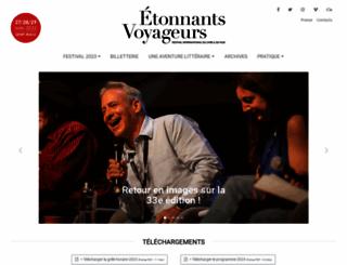 etonnants-voyageurs.com screenshot