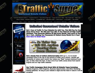 etrafficsurge.com screenshot