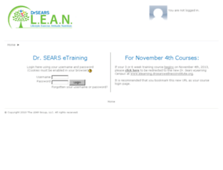 etraining.drsearslean.com screenshot