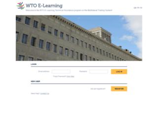 etraining.wto.org screenshot