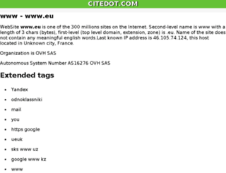eu.citedot.com screenshot