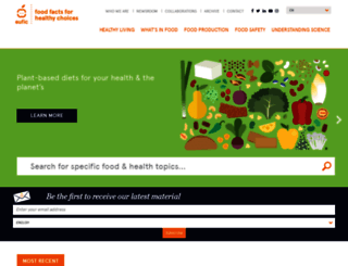 eufic.org screenshot