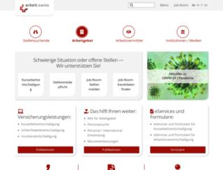 eures.ch screenshot