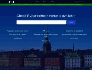 eurid.eu screenshot