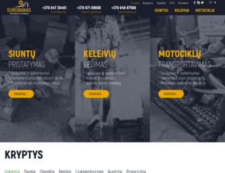 eurobanas.lt screenshot