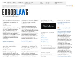 euroblawg.com screenshot