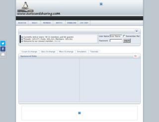 eurocardsharing.com screenshot