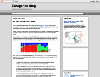 eurogenes.blogspot.com.es screenshot