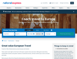 eurolines.co.uk screenshot