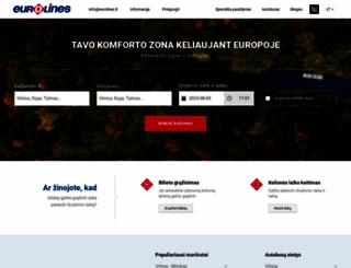 eurolines.lt screenshot