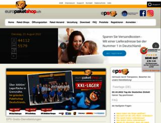 europaketshop.ch screenshot