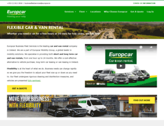 europcarfleet.ie screenshot