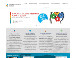 europeanhydrationinstitute.org screenshot