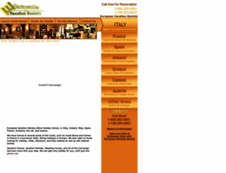 europeanvacationrental.com screenshot