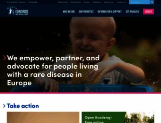 eurordis.org screenshot