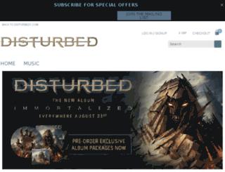 eustore.disturbed1.com screenshot