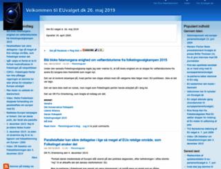 euvalget.dk screenshot