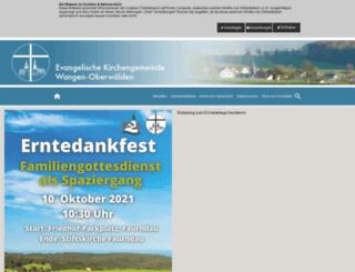 ev-kirchengemeinde-wangen.de screenshot
