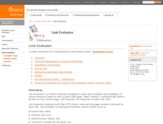 evaluator.oclc.org screenshot
