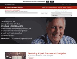 evangelists.ag.org screenshot