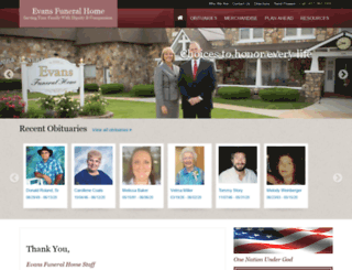 evansfh.com screenshot