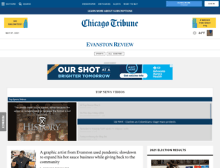 evanston.chicagotribune.com screenshot