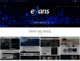 evanswebservices.com screenshot
