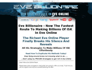 evebillionaire.com screenshot