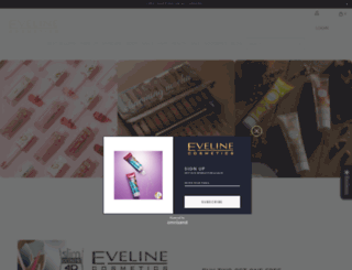 evelinecosmeticsusa.com screenshot