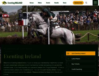 eventingireland.com screenshot