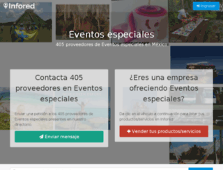 eventos-especiales.infored.com.mx screenshot