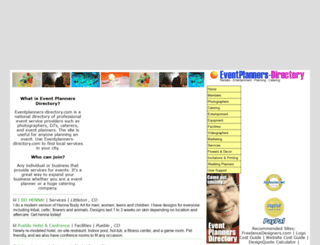 eventplanners-directory.com screenshot